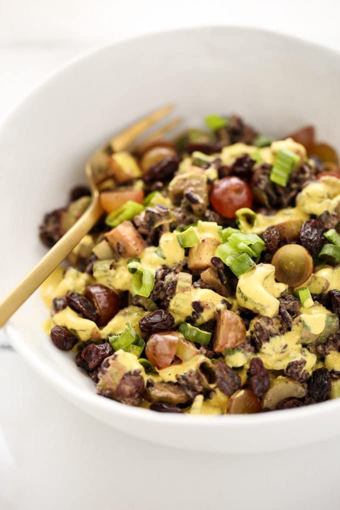 Curried Black Rice Crunch Salad