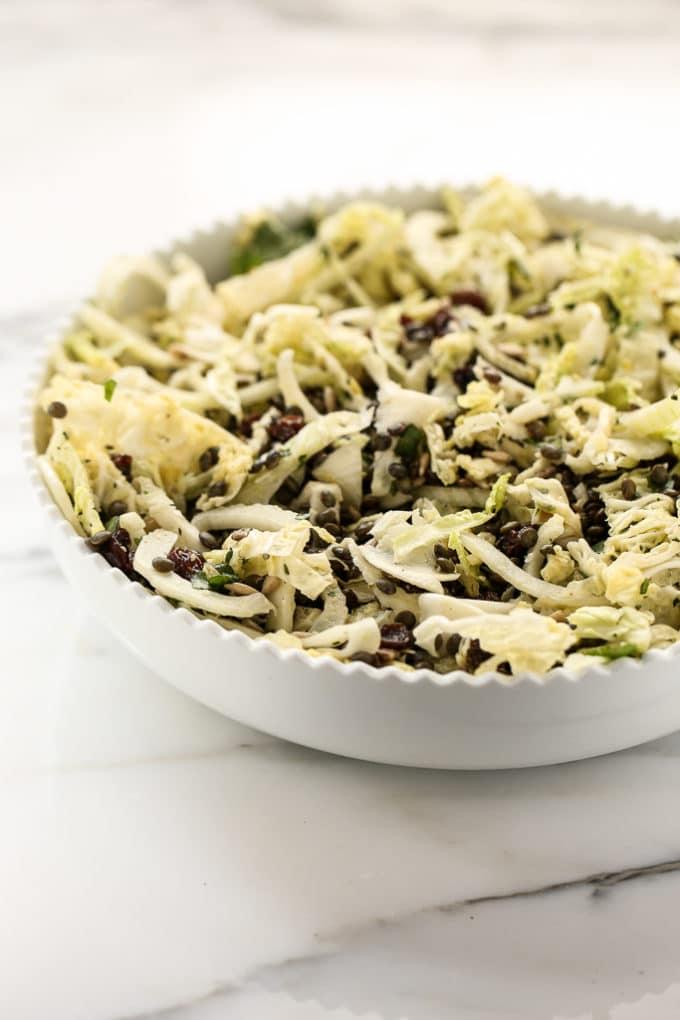 French Lentil, Fennel + Cabbage Detox Salad