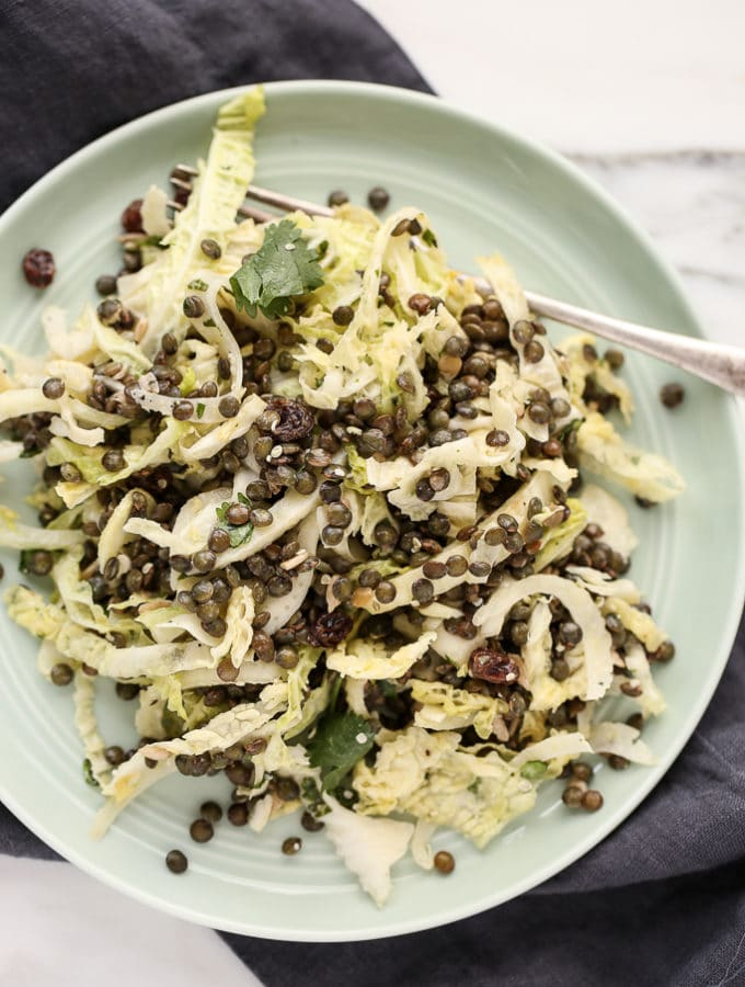 French Lentil, Fennel + Cabbage Detox Salad