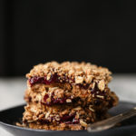No-Bake Cherry Chia Crumble Bars (vegan, gluten-free)