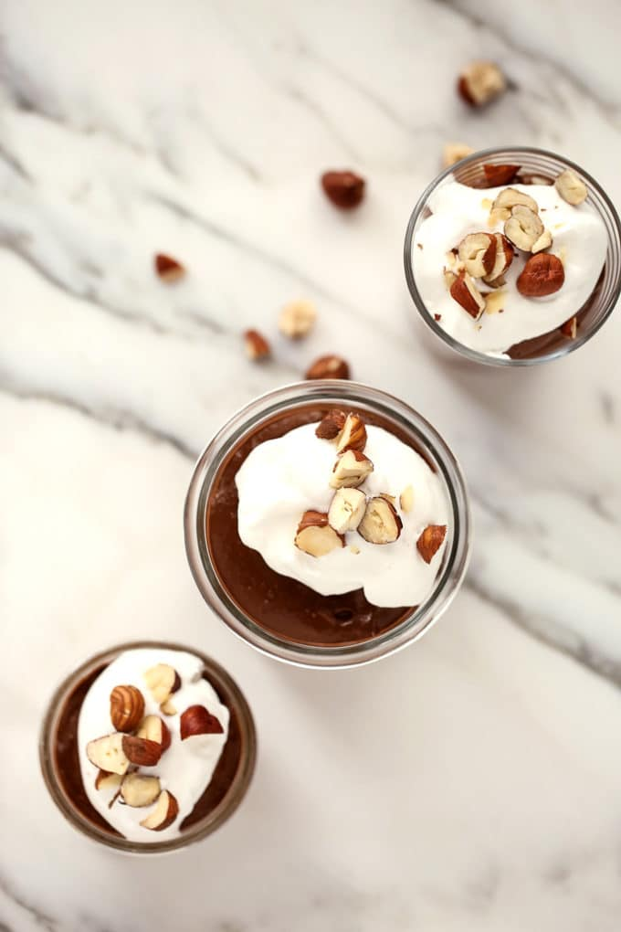 "Vegan Hazelnut & Chocolate ""Nutella"" Pudding"