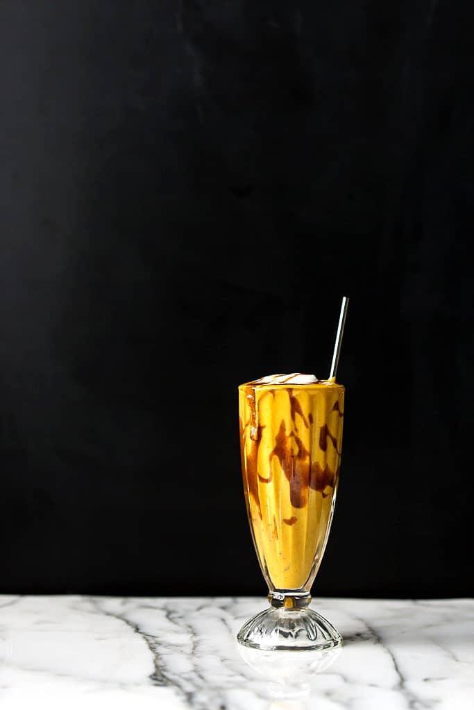Vegan Caramel Pumpkin Spice Shake