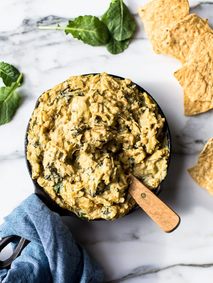 Warm Kale & Artichoke Dip from Crossroads by Tal Ronnen + A Giveaway!