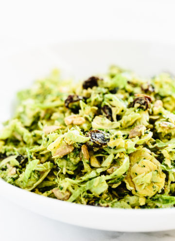 Creamy Curried Broccoli & Brussels Sprout Detox Slaw | Vegan