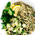 Green Goddess Revitalization Bowl with Herbed Buckwheat, Avocado & Microgreens
