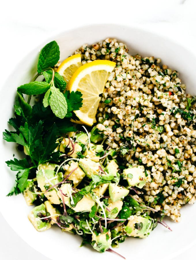 Green Goddess Revitalization Bowl with Herbed Buckwheat