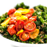 Balsamic Marinated Kale, Bulgar & Roasted Tomato Salad