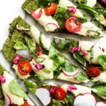 Green Split Pea & Spinach Pizza Crust | Vegan & Gluten-Free
