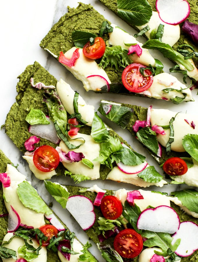 Green Split Pea + Spinach Pizza Crust | Vegan + Gluten-Free