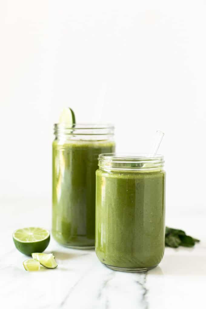 Matcha Mojito Smoothie | Sweet, refreshing, and energizing!