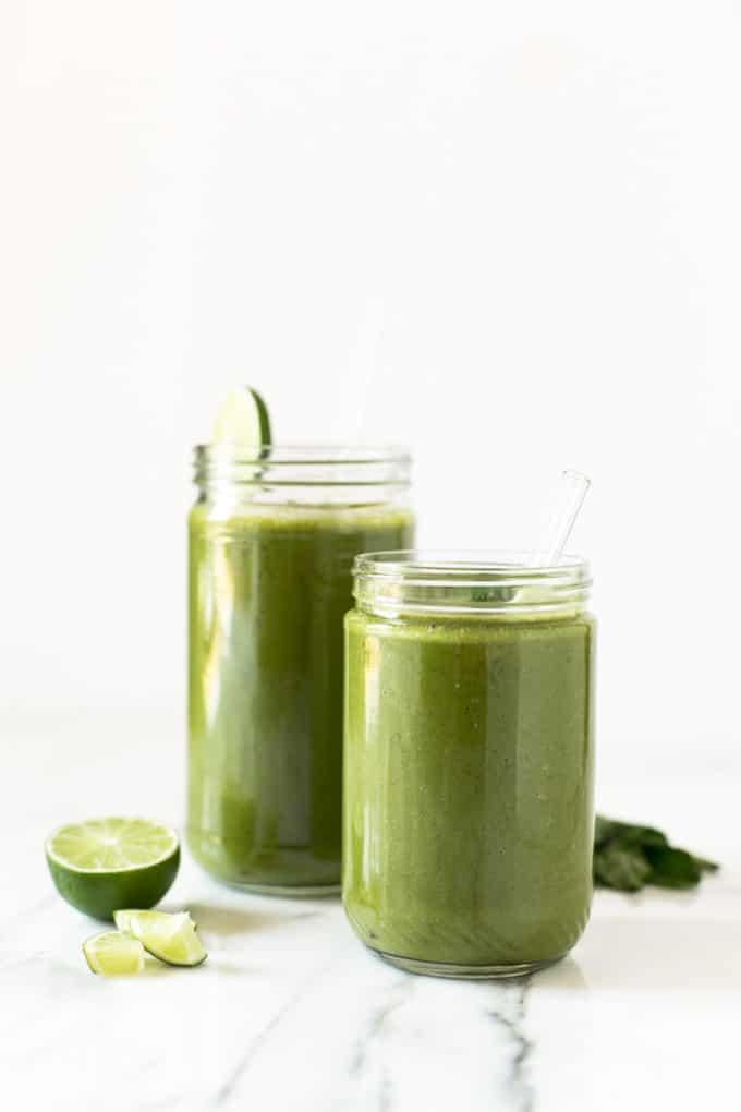 Matcha Mojito Smoothie | Sweet, refreshing, and energizing!