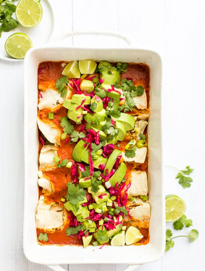 Best Vegan Enchiladas from Minimalist Baker's Everyday Cooking & A Giveaway!