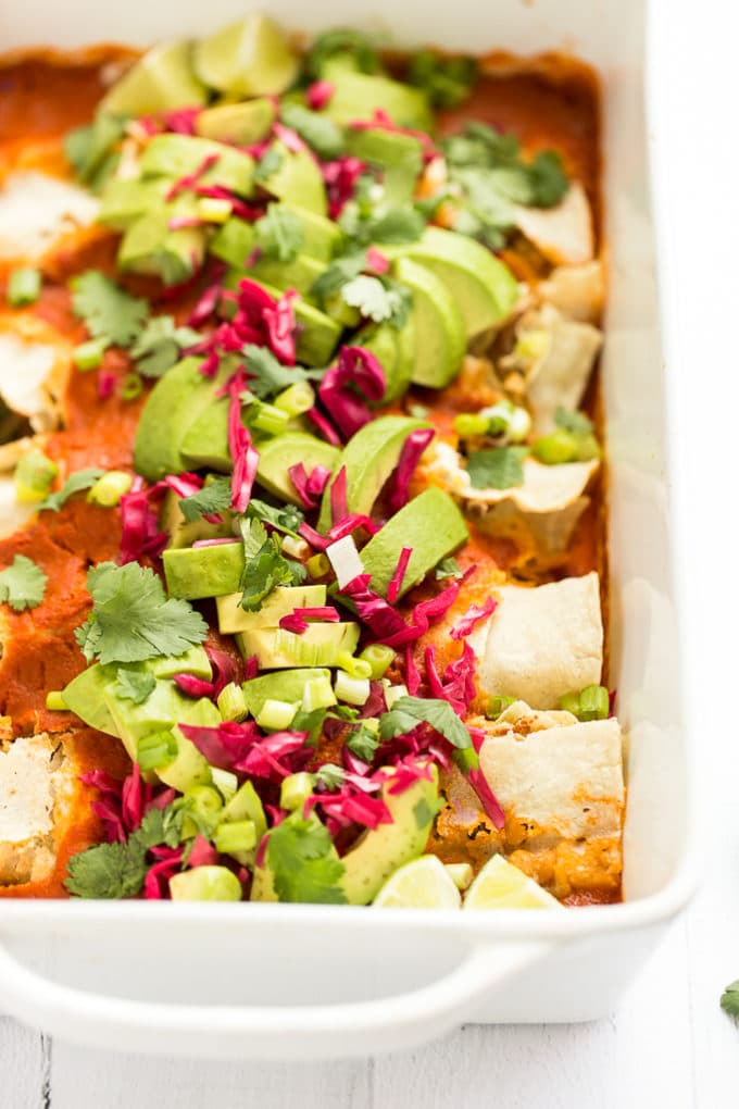 Best Vegan Enchiladas from Minimalist Baker's Everyday Cooking