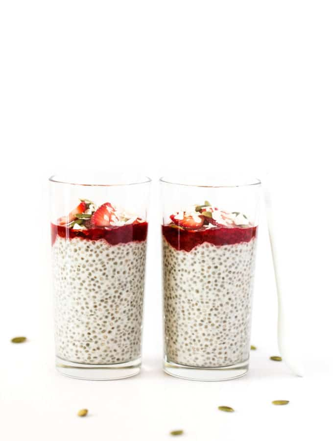 Coconut Yogurt Chia Seed Pudding Parfaits