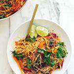 Rainbow Glass Noodle Salad with Chile-Lime Vinaigrette