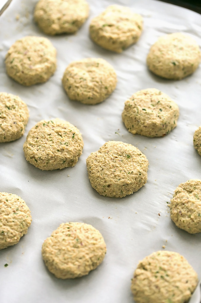 Herbed Cauliflower-Almond Patties | Vegan, Grain-Free, Gluten-Free