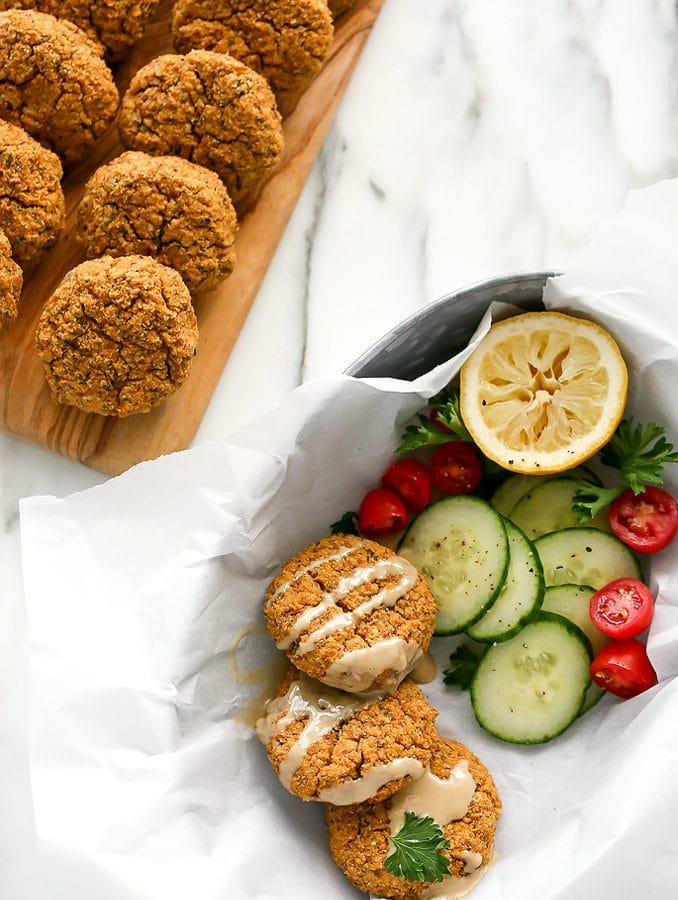Herbed Cauliflower-Almond Patties | Vegan, Grain-Free, GF