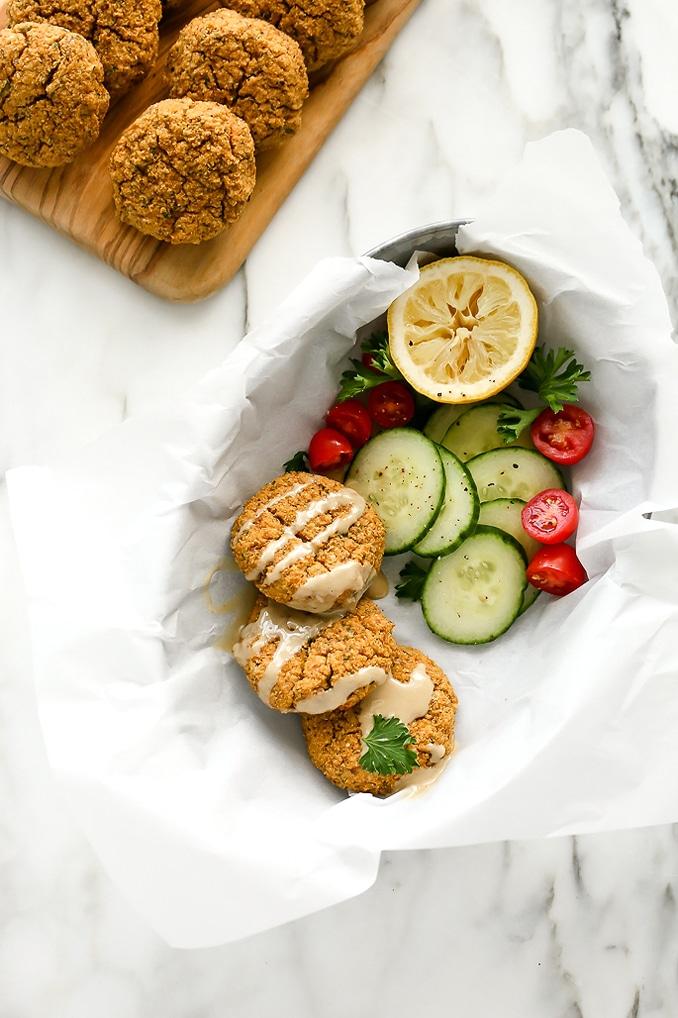 Herbed Cauliflower-Almond Patties | Vegan, Grain-Free, Gluten-Free