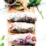 Rainbow Summer Rolls with Chile-Garlic Tofu