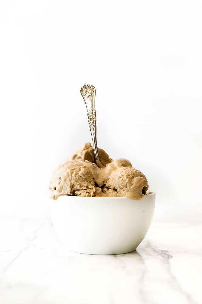 No-Churn Vegan Peanut Butter Ice Cream