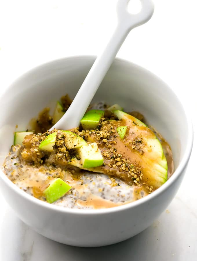 Caramel Apple Pie Chia Seed Pudding Parfait (Vegan)