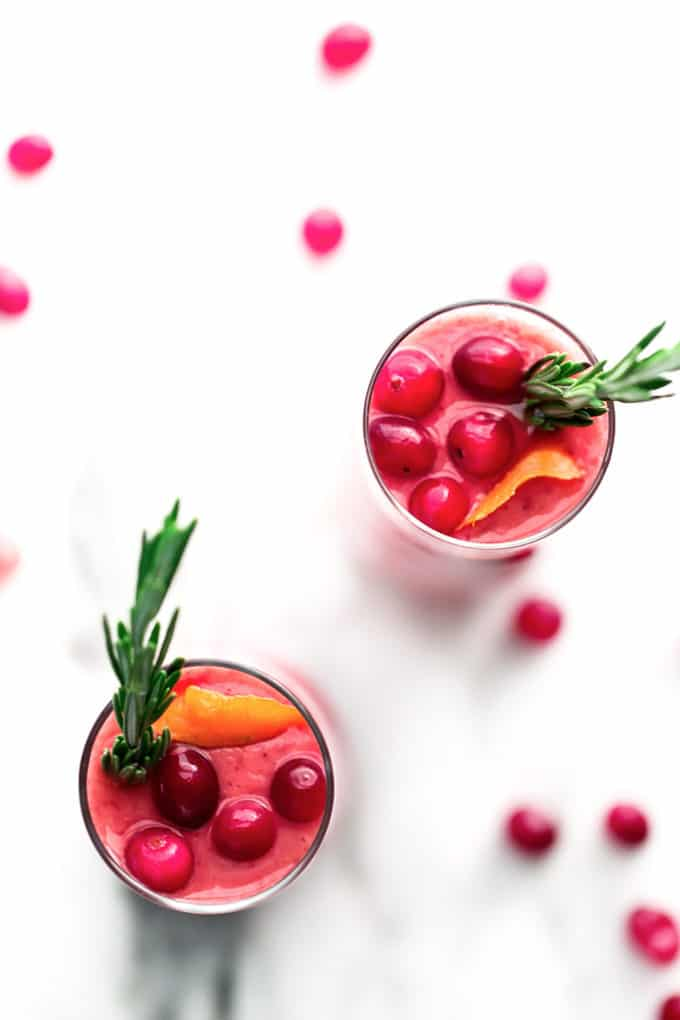 Festive Cranberry-Pear Smoothie