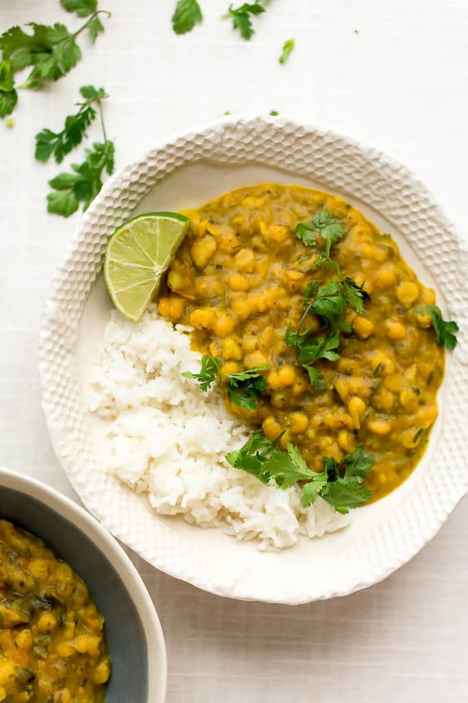 Yellow Split Pea, Kale + Potato Curry