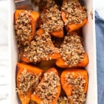 Stuffed Sweet Potatoes with Sunflower-Pecan Crumble | Vegan
