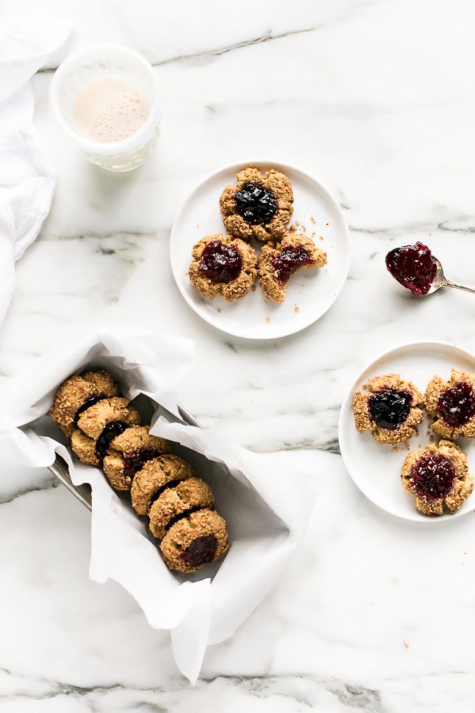 Vegan Gluten Free Holiday Thumbprint Cookies