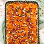 Savory Vegan Goat Cheese, Sweet Potato, and Hazelnut Holiday Tart
