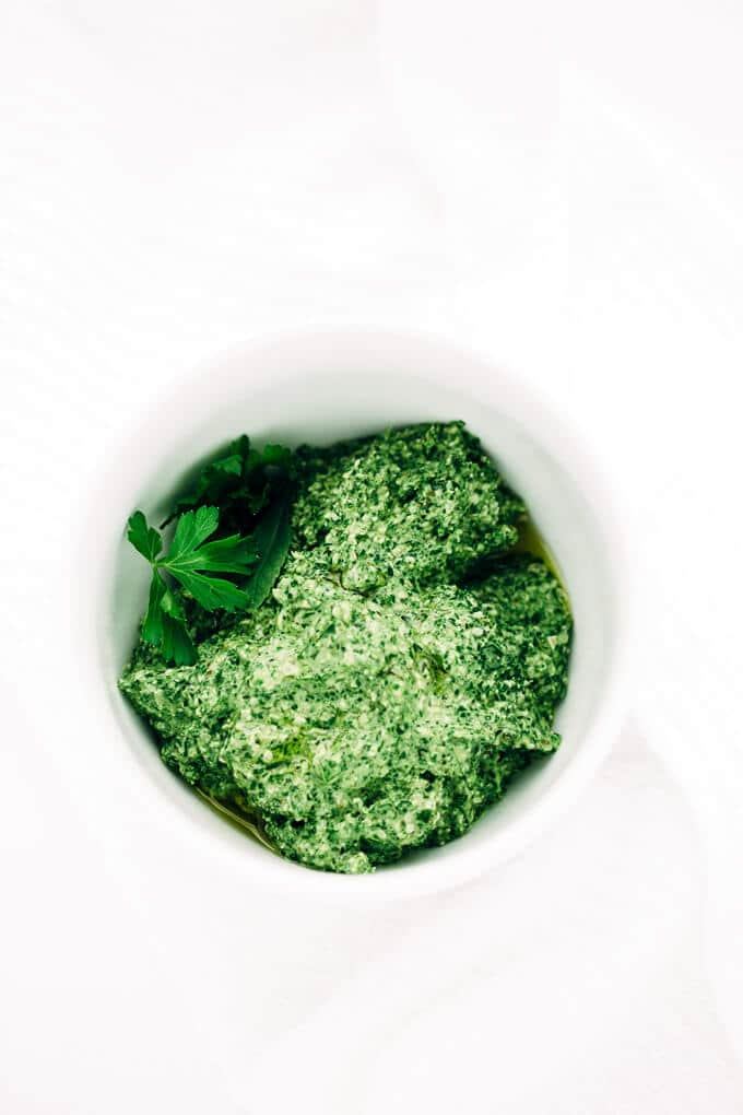 Vegan Green Goddess Power Pesto