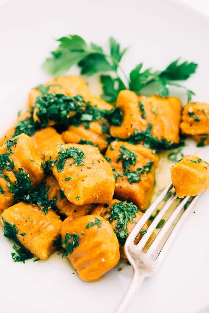 Vegan Carrot Gnocchi