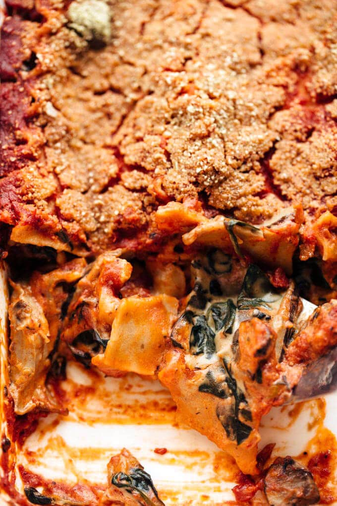Creamy Mushroom Lasagna from One Part Plant by Jessica Murnane