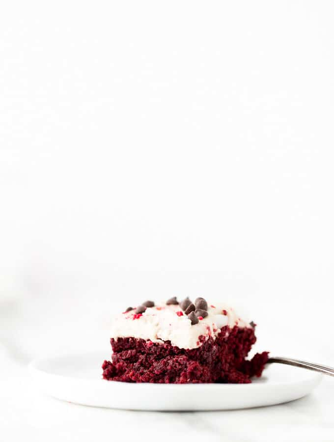 Just Beet It Vegan Gluten-Free Red Velvet Cake