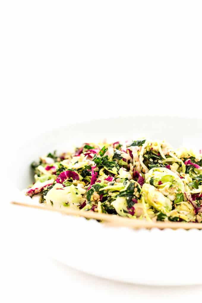 Superseeded Brussels Sprout and Kale Detox Salad