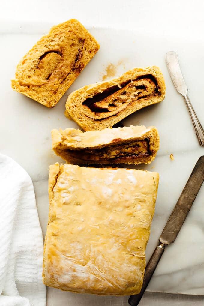 Sweet Potato Cinnamon Swirl Bread