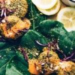 Spicy Vegan Sunflower-Lentil Falafel with Spicy Tomato Aioli