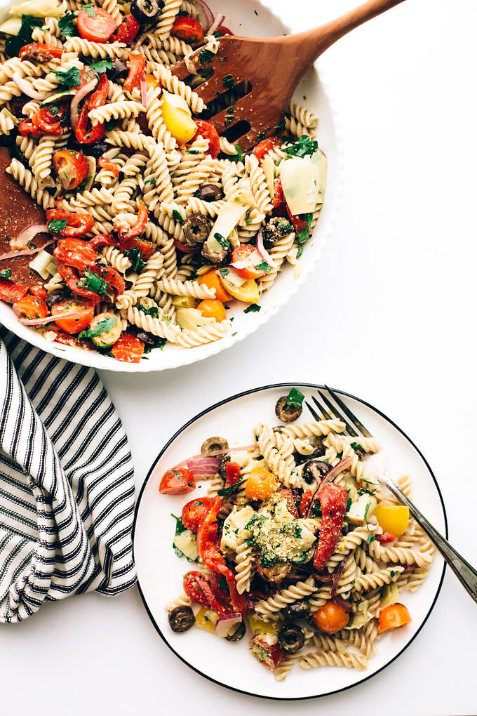 Easy Vegan Italian Pasta Salad