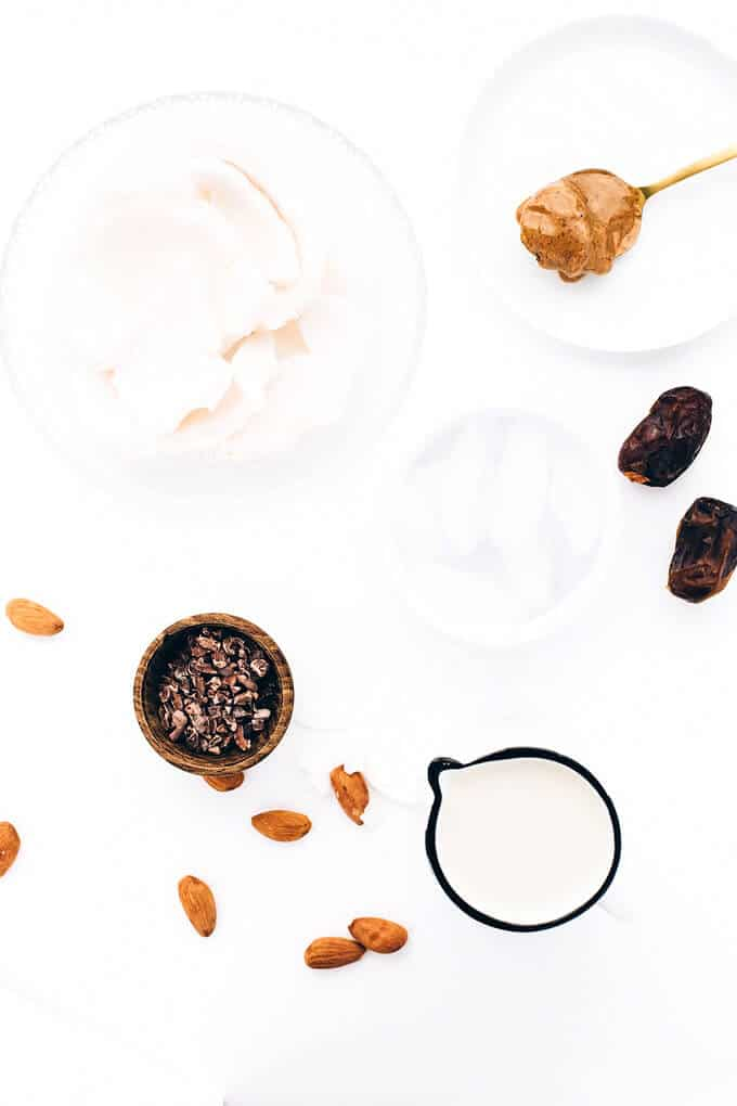 Vanilla-Almond Coconut Nib Chip Shake