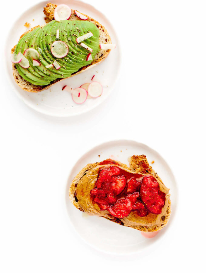 Farmers Market Breakfast Toast Two Ways