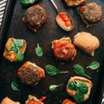 Vegan Italian-Style Lentil and Mushroom Meatball Sliders