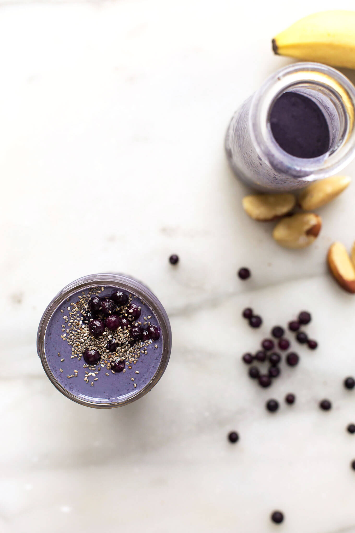 Wild Blueberry, Brazil Nut + Tahini Smoothie