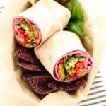 Epic Vegan Rainbow Veggie Wrap