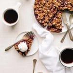No-Bake Vegan Berry Chia Crumble Pie