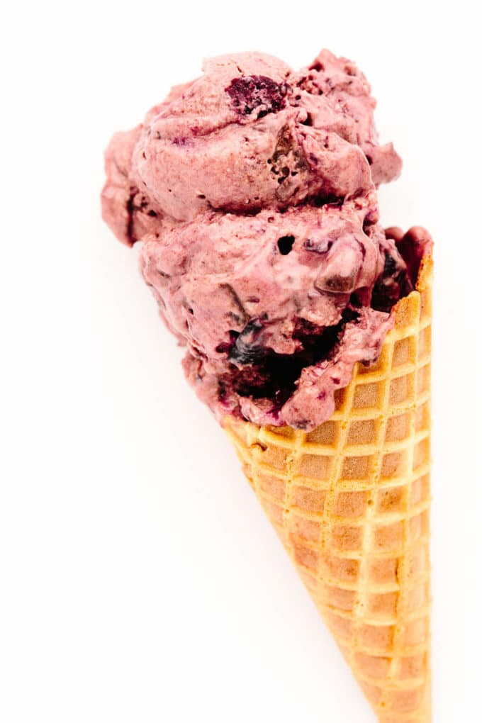 No-Churn Vegan Cherry Chocolate Chunk Ice Cream