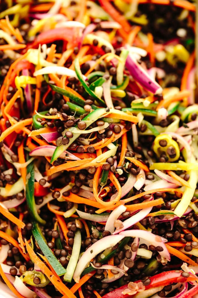 Pickled Vegetable + Beluga Lentil Salad