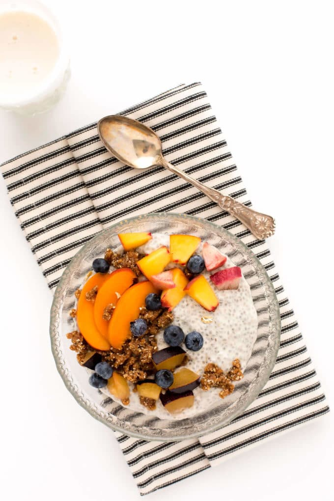 Summer Stone Fruit Chia Pudding Parfait