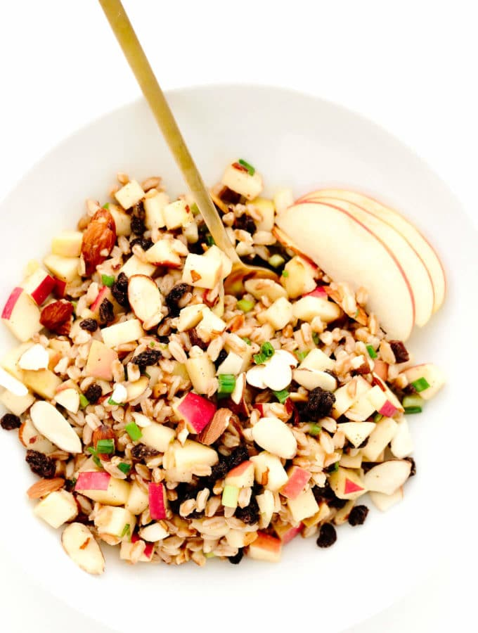 Apple Almond Farro Salad