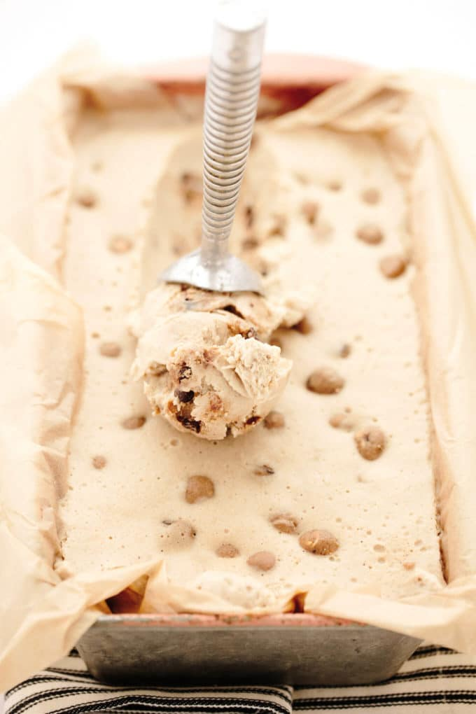 No-Churn Vegan PB Cookie Dough Ice Cream