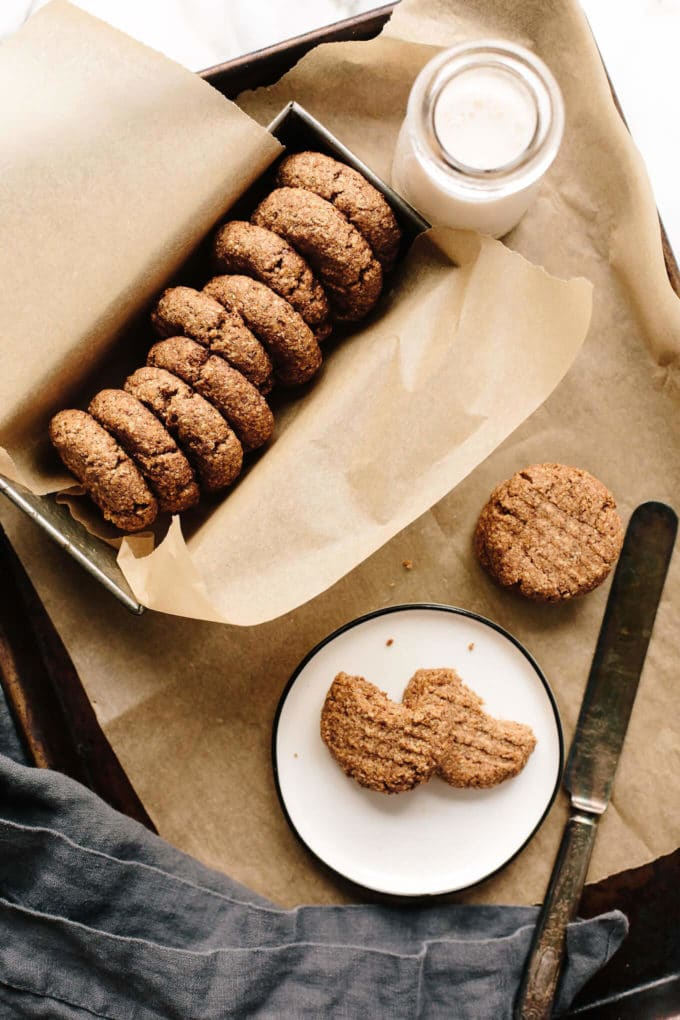 Vegan Almond Butter Shortbread Cookies